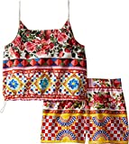 Dolce & Gabbana Kids Baby Girl's Mambo Top/Shorts Set (Toddler/Little Kids) Carretto Suit