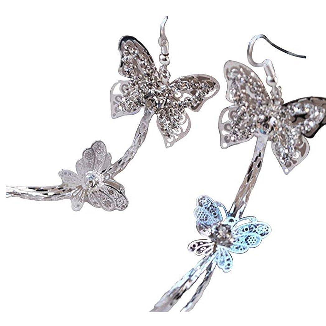 Fashion Women's 925 Silver Platinum Plated Purple Cubic Zirconia Earrings Stud Jewelry WKShop B01AHGKZEM_US