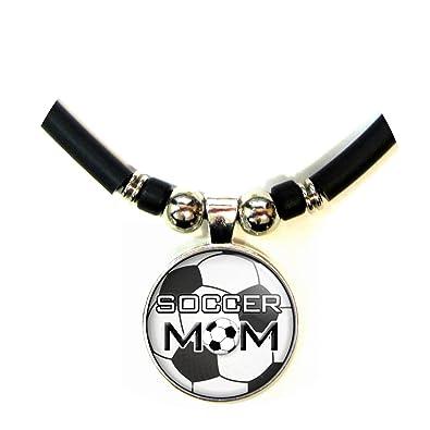 Fútbol mamá balón de fútbol colgante de cúpula de cristal necklace ...
