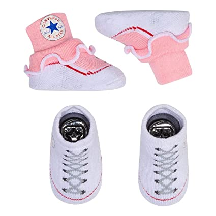 a710eec5a8228 Converse 2 Pack Infant Booties 0-6 Months Blue White  Amazon.ca ...