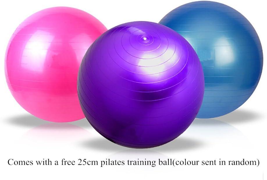 Pelota Suiza Fitbal de Ejercicios Anti-explosion y Antideslizante APig Bola Silincona para Yoga