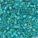 Miyuki Delica Seed Beads 11/0 Transparent Matte Caribbean Teal AB DB1283 7.2 Grams