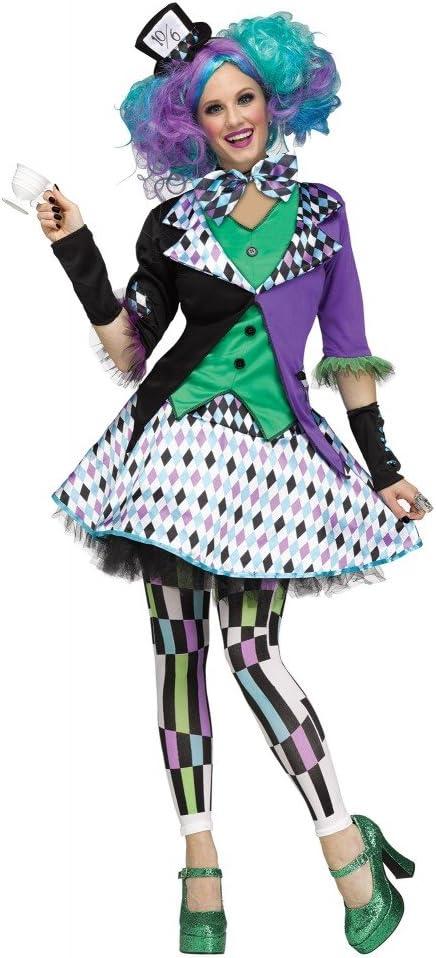 shoperama Mad Hatter Deluxe Disfraz para Mujer Y Adolescente ...