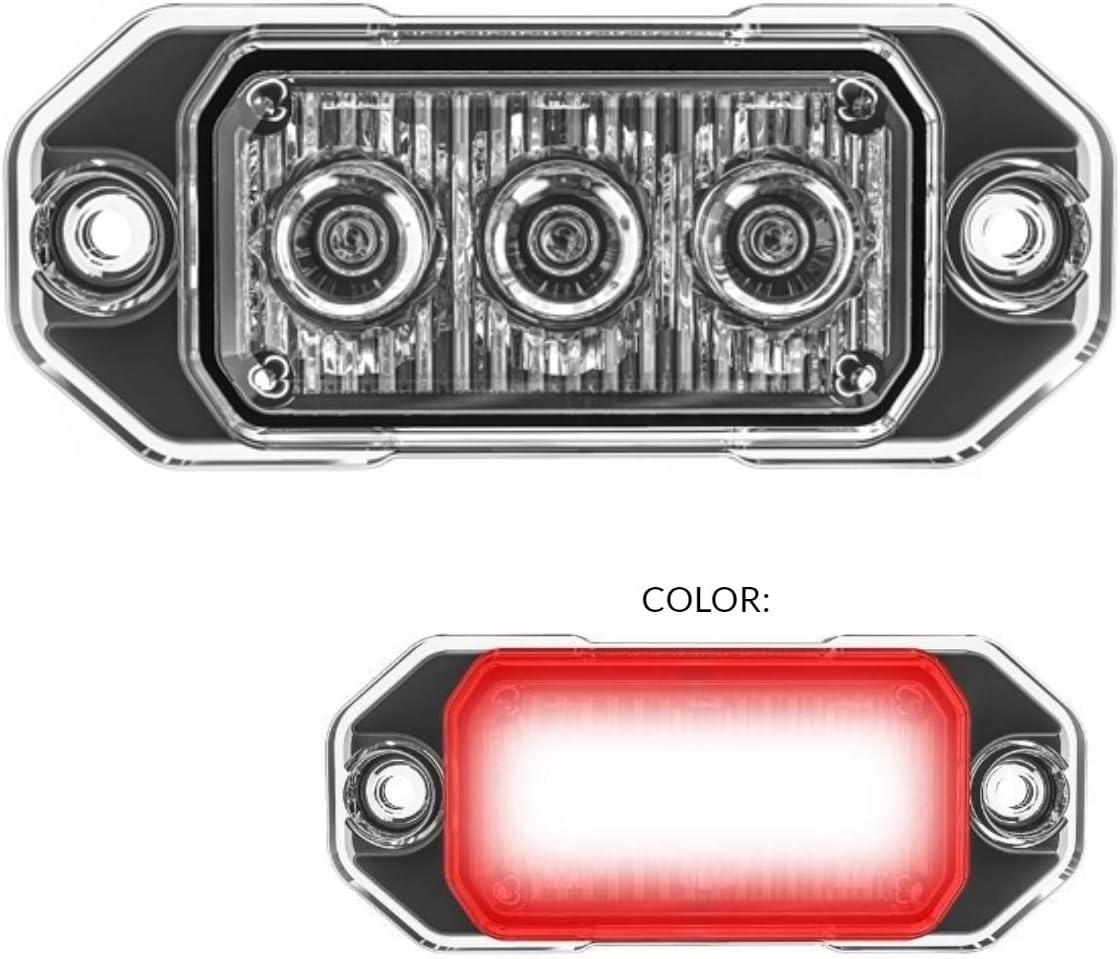TASWK 3-LED Bulb Warning Strobe Lights for Trucks Cars Motorcycle Daytime Running Lights Emergency Grill Lights Green