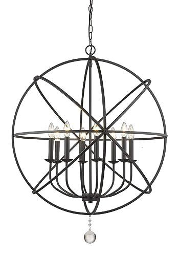 Amazon.com: Chandeliers - Lámpara de techo (8 unidades ...