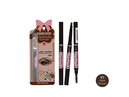 17ef3ff4b74 Sivanna Long Lasting Automatic Double Eyebrow Pencil (B3 Dark Brown):  Amazon.in: Electronics