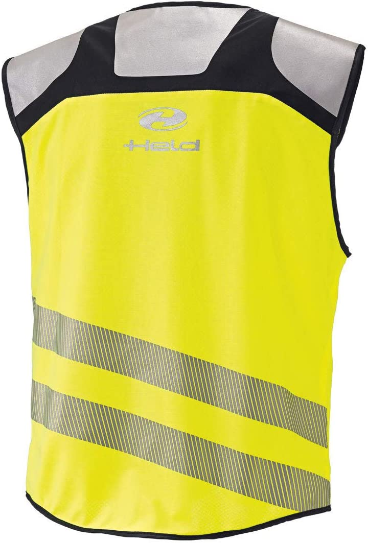 Farbe schwarz-Neongelb Held Stretch Warnweste Gr/ö/ße 4 XL