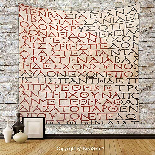 FashSam Tapestry Wall Blanket Wall Decor Antique Latin Culture Alphabet Writing Carved on The Tombstone Print Decorative Home Decorations for Bedroom(W51xL59)