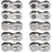 BlueXP 10 Pieces Quick Release Chain Link Suitable for 6 7 8 9 10 11 Speeds Missing Bicycle Chain Buckle Magic Joint…
