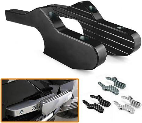Nero Almencla Estensione Poggiapiedi Posteriore Piolo di Alluminio per Vespa GTS 300 ie