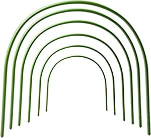 INFILM 6Pcs Greenhouse Hoops Grow Garden Tunnel Hoop Plant Support Hoops for Garden Stakes(Arch Size: 19.7in H x 15.7in W)