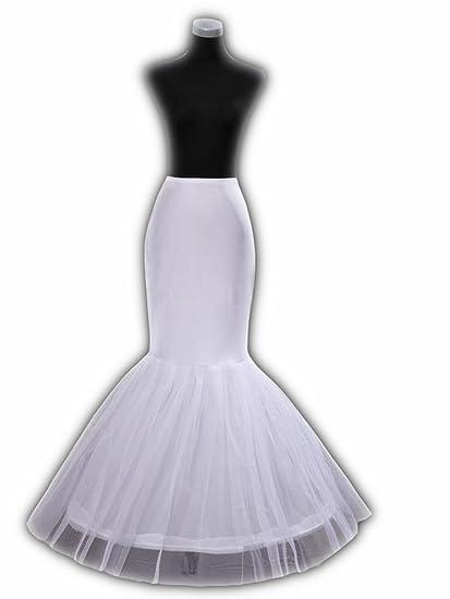 Enagua miriñaque blanca de cóctel sirena para novia guardainfante ...