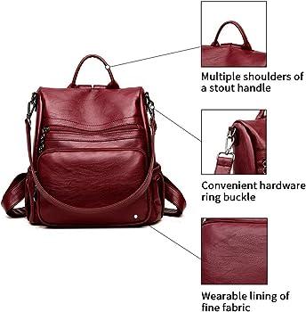 2963d5103f40 Women Backpack Purse Bag Handbag Anti-theft Travel Rucksack Shoulder Bag  Ladies. DSLONG Women Backpack Purse Bag Travel Anti-theft Leather ...