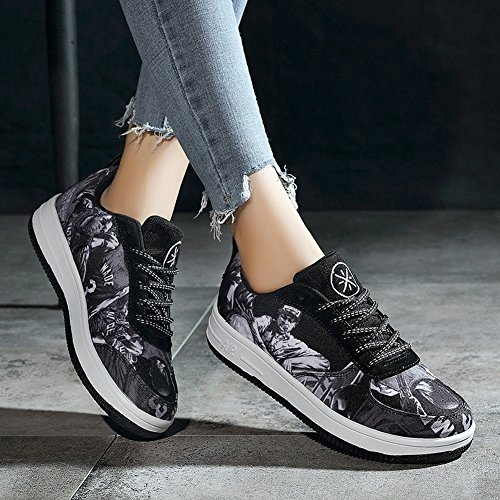 Non with Shoes grey Women Slip Help Couple Casual High Sports Board Breathable EUR35 Men Shoes and q1g4FXY
