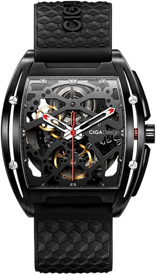 Orologio zeyue ciga dlc automatico 3d hollow meccanico cinturino in silicone moda orologio unisex ST2553JK