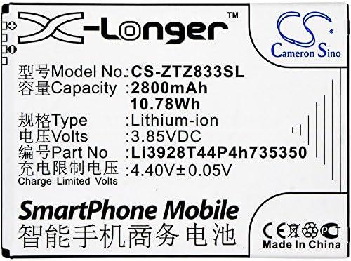 Z837VL ZFIVE 2 Z833 Q802T Z836BL CameronSino Standby Battery for ZTE Mobile Smartphone Avid Trio