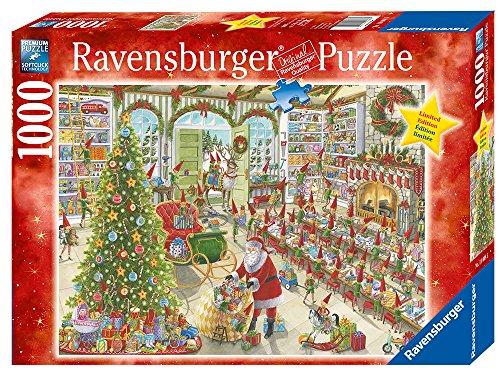 Amazon.com: Ravensburger Santa's Ready Puzzle (1000 Piece): Toys ...