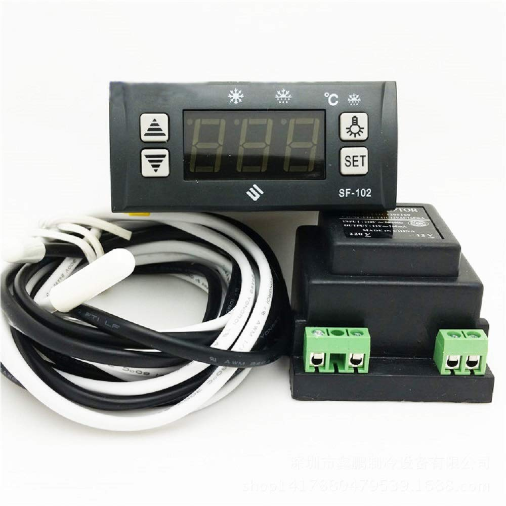 MXBAOHENG SF-102 Electronic Temperature Controller Digital Display Freezer Thermostat 110V