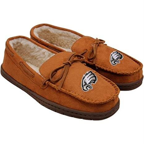 d8b486d1b7e Image Unavailable. Image not available for. Color  Philadelphia Eagles Mens  Moccasin Slipper Extra Large
