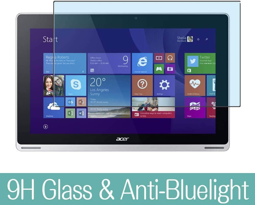 """Synvy Anti Blue Light Tempered Glass Screen Protector for Acer Aspire Switch 11 SW5-171 / SW5-171p 11.6"""" Visible Area 9H Protective Screen Film Protectors (Not Full Coverage)"""
