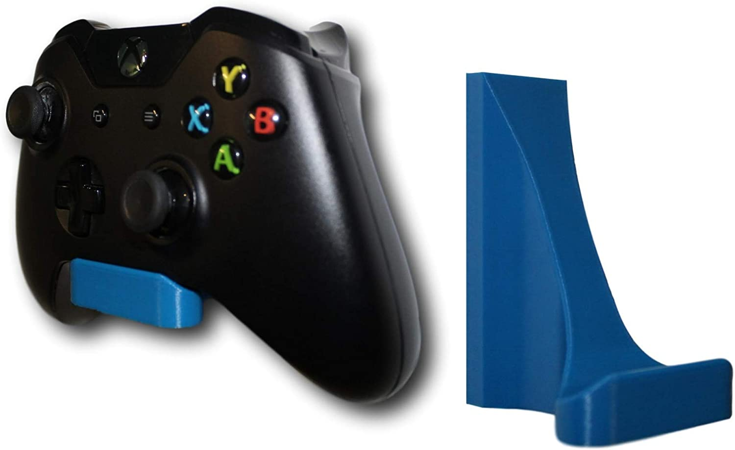 3d Lasers Lab Damage-Free Controller Wall Mount Kit for Xbox One, Microsoft, Easy Install, 3M Command Strip Included (Blue, 2)