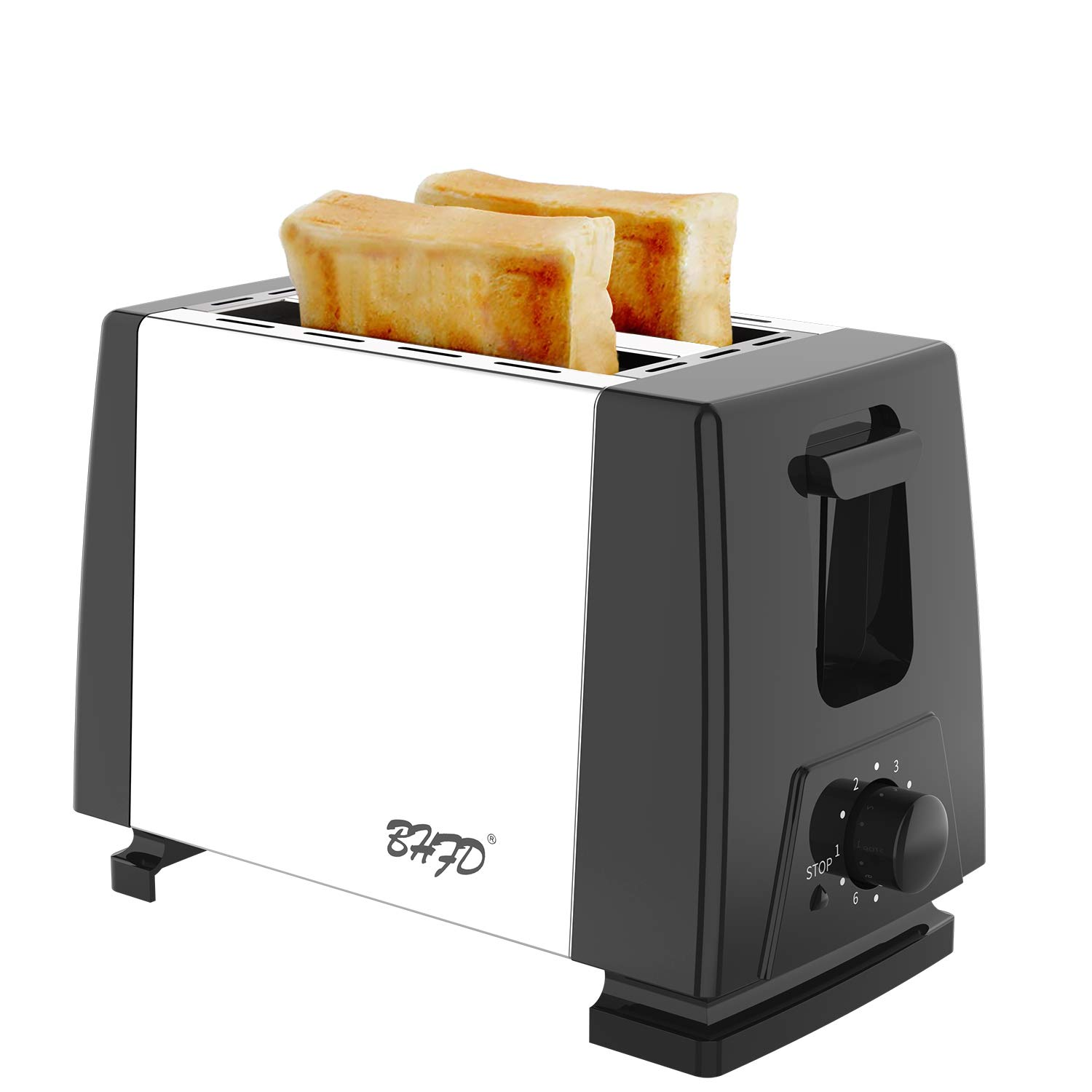 Yabano 4 Slice Toaster, Retro Bagel Toaster with 7 Bread Shade Settings and Warming Rack, 4 Extra Wide Slots, Defrost Bagel Cancel Function, Removable Crumb Tray, Stainless Steel Toaster, Silver