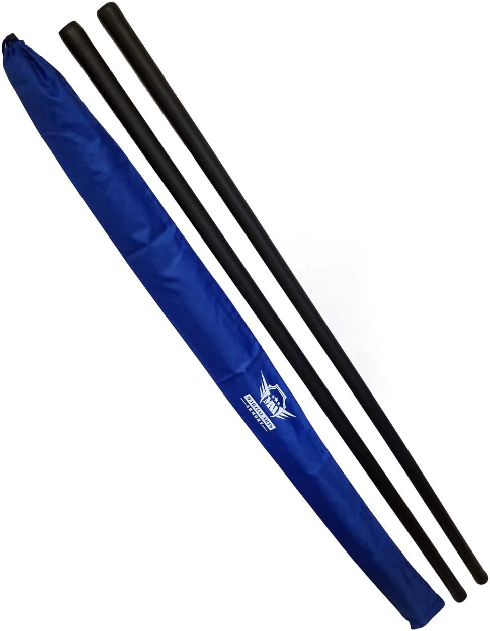 Pink Pair Foam Padded Bo Staff Karate Martial Arts with Armory Carry Case