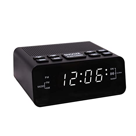 Amazon.com: SUCHMIX - Reloj despertador con radio FM/AM ...