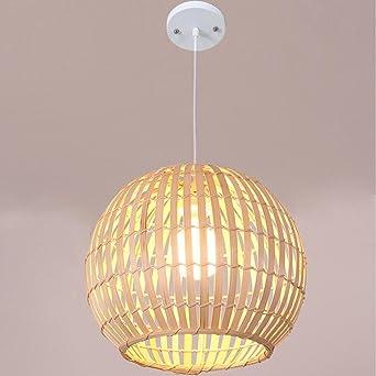 Bambus Ball Pendelleuchte Retro Kreative Design Deckenleuchten ...