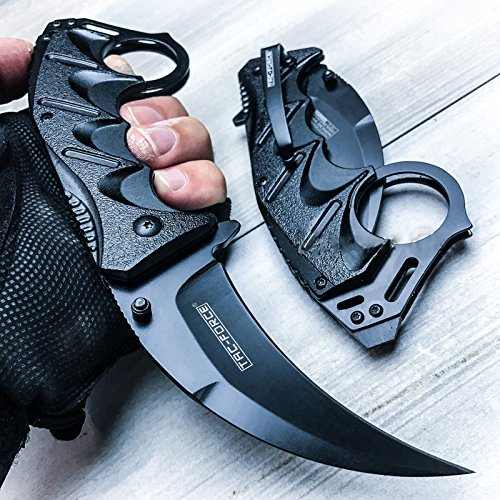 8' Spring Assisted Open Folding Pocket Knife BestSeller989 Karambit Claw Combat Tactical New