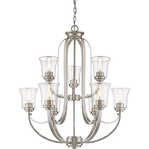 Amazon.com: Chandeliers - 9 lámparas de techo con acabado en ...