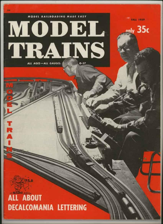 Model Trains Magazine Fall 1959 (Vol. 12, No. 5) (Decalcomania Lettering feature)