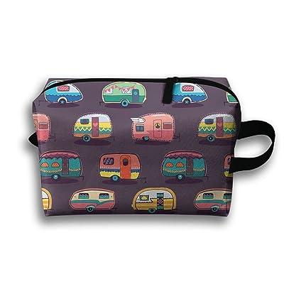4e7c73b799b1 Toiletry Bag Happy Camper Travel Cosmetics Bag Waterproof Organizer ...