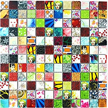 Pop Up Rétro Vintage Marily Monroe Mosaïque Pour Carrelage Céramique  Mehrfarben Multicolore Star Pour Revêtement Miroir