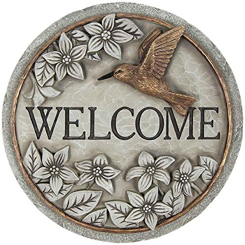 Hummingbird Garden Stone - Carson, Welcome Serene Garden Stone