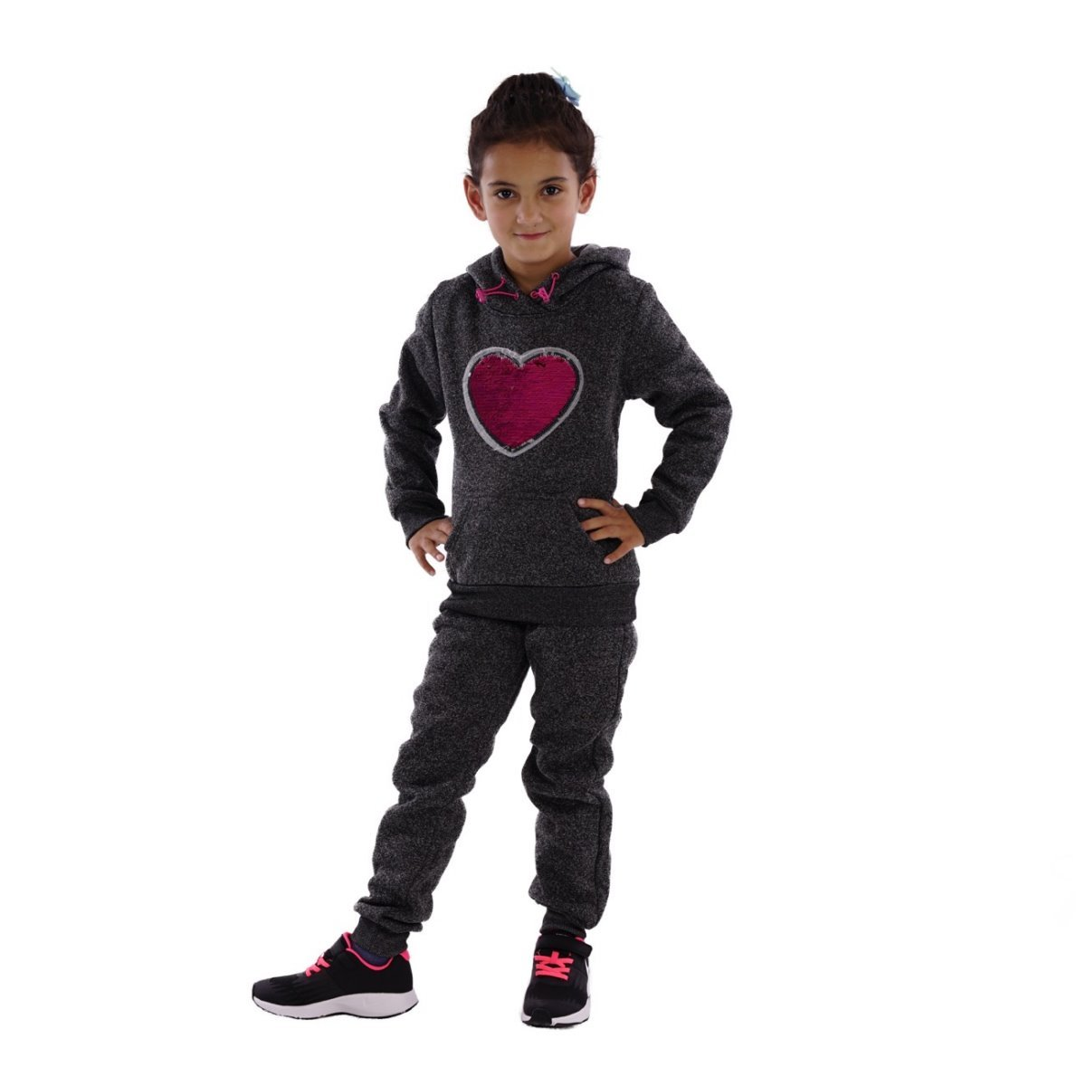 Fashion4Young Kinder Jogginganzug Freizeitanzug Herz Heart Sweater Joggpants f M/ädchen