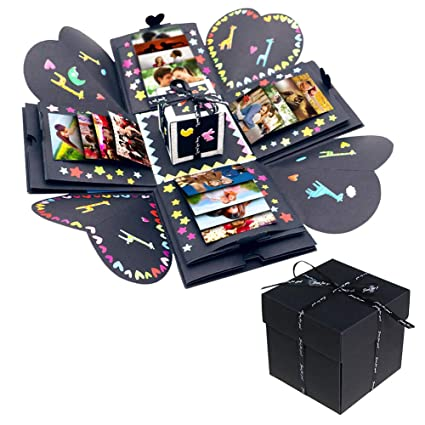 AerWo Creative Explosion Gift Box DIY Photo Album With Accessories Kit As