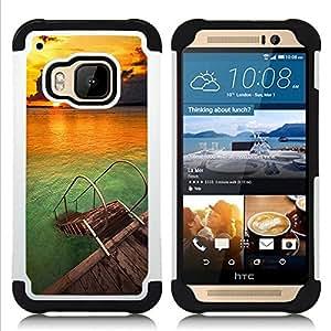 Hypernova Híbrido Heavy Duty armadura cubierta silicona prueba golpes Funda caso resistente Para HTC One M9 /M9s / One Hima [ Été]