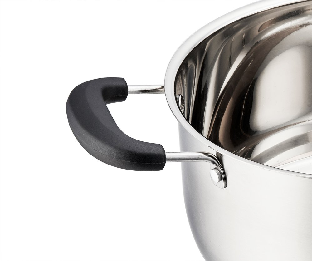 Stainless Steel Stockpot, P&P Chef 5 Quart Stock Pot with Lid, Heat-Proof Double Handles - Dishwasher Safe by P&P CHEF (Image #3)