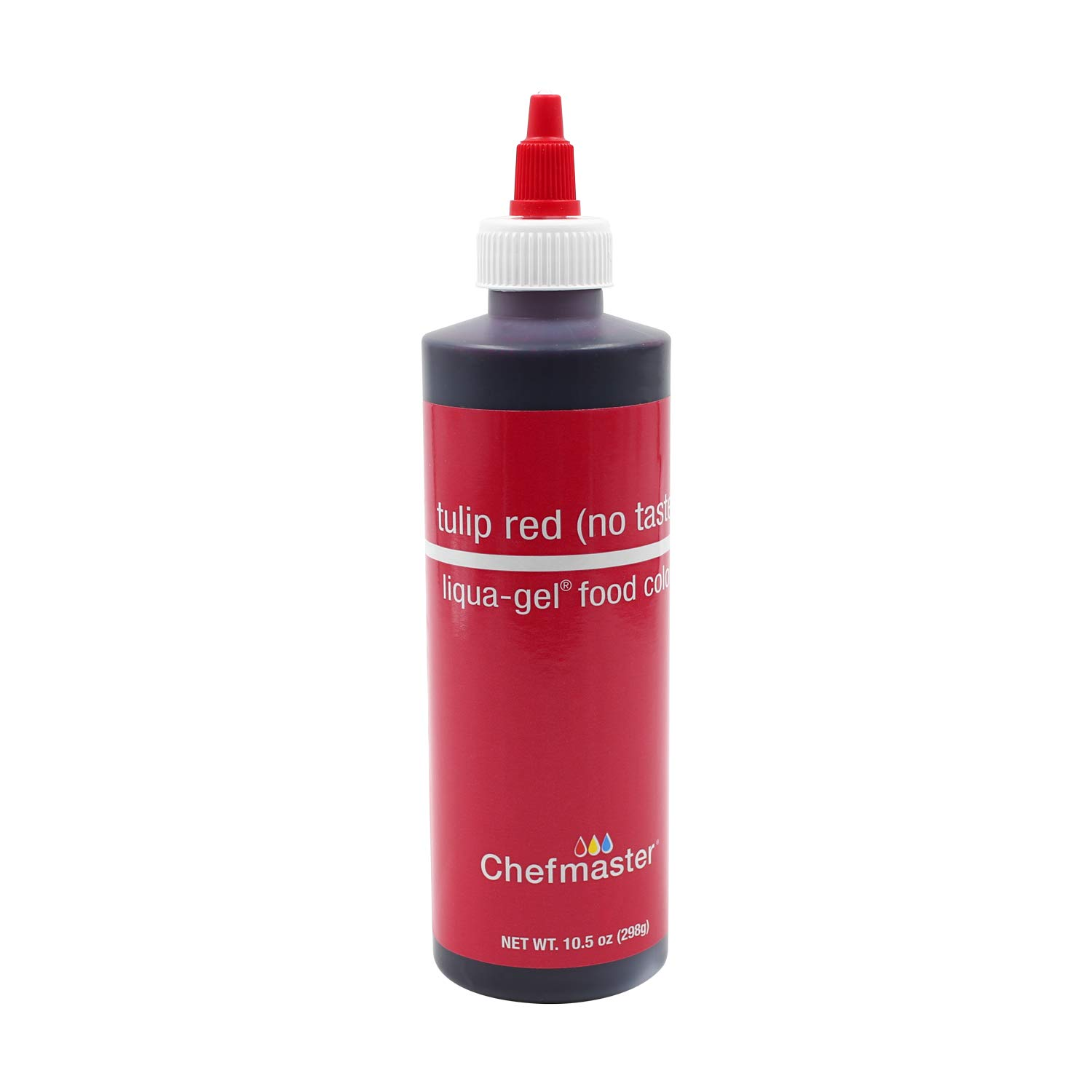 Chefmaster Liqua-Gel Color, 10.5 Ounce: Tulip Red (No Taste)