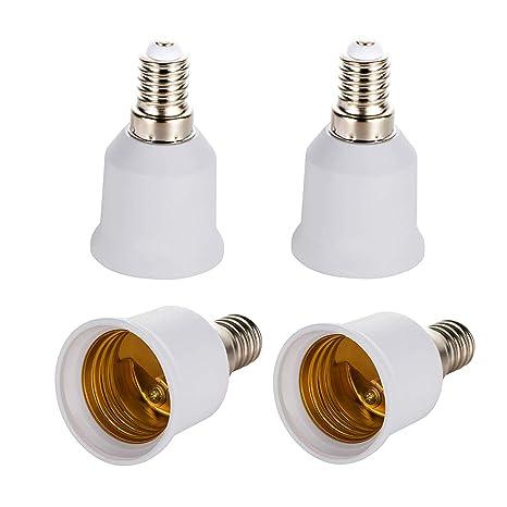 Adaptador de casquillo E14 a E27, adaptador de base de lámpara de alta calidad para