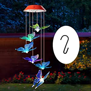 wind chimes outdoor, gifts for mom, solar wind chimes ,butterfly wind chime ,solar mobile butterfly, mom gifts,birthday gifts for mom,gardening gifts, wind chimes solar,windchimes unique outdoor