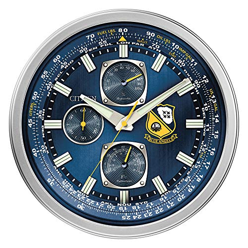 Citizen CC2030 Gallery Wall Clock, Silver-Tone (Citizen Wall Clock)