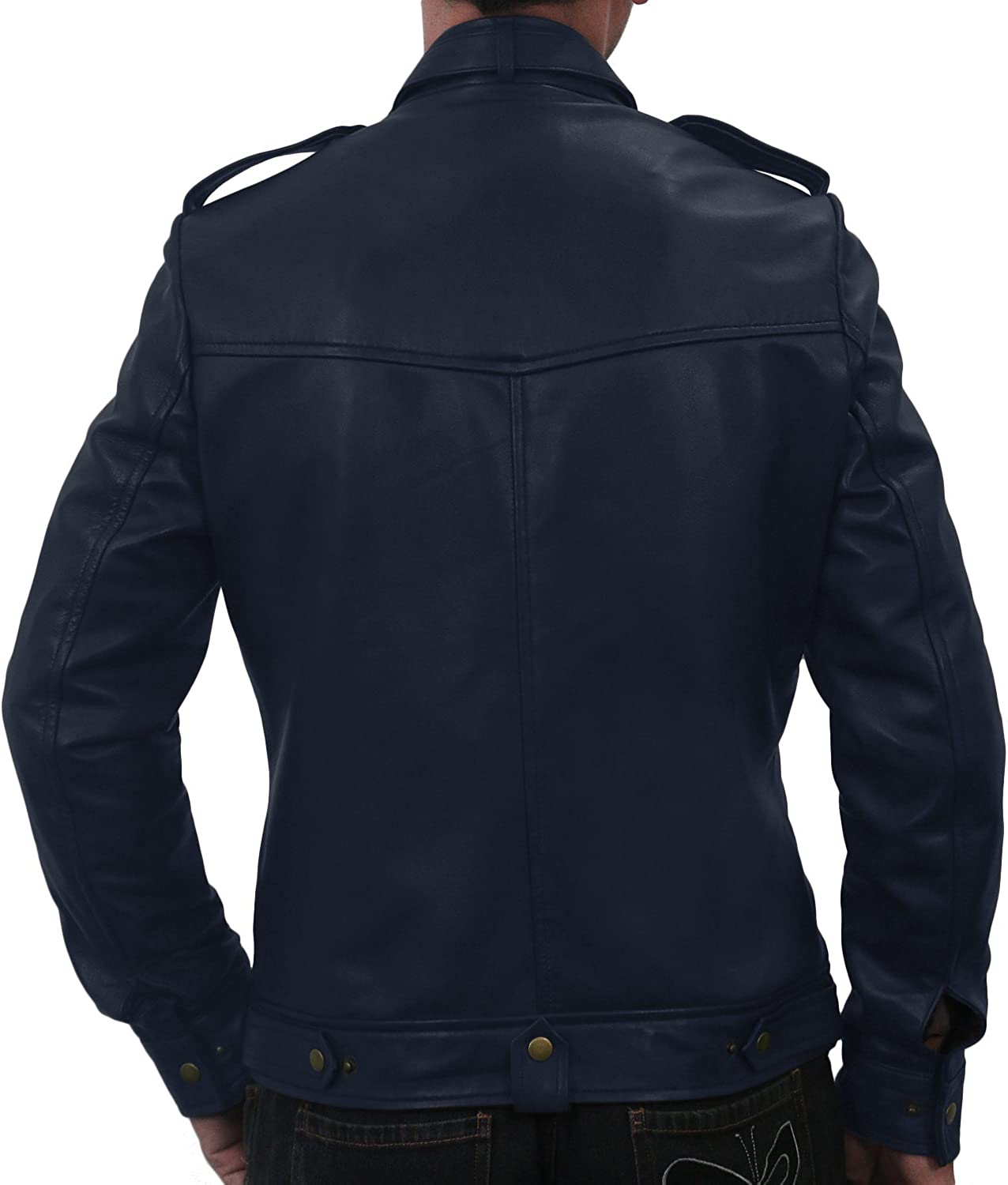 Black, Officer Jacket Laverapelle Mens Genuine Lambskin Leather Jacket 1501075