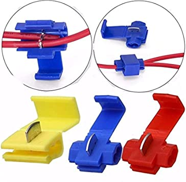 50 Electrical Cable Fast Quick Splice Lock Wire Connector Crimp AWG 12-10 Yellow