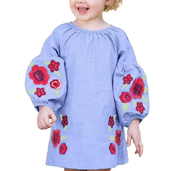 Vestido para Bebé Niñas Manga de la Burbuja Largas Otoño Invierno 2018 Moda Boda PAOLIAN Falda