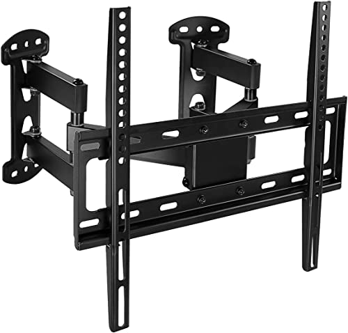 Corner TV Wall Mount – Full Motion Swivel Wall Mount Bracket Designed for Corner Installations, VESA 400×400 Pattern Fits 32, 37, 40, 42, 50, 55 Inch Televisions, 66 Lbs Capacity, MI-4481
