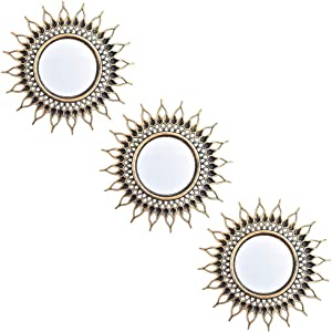 Small Wall Mirrors Decorative Living Room Set of 3   Gold Round Mirrors for Wall Decor Bedroom   Circle Mirror Wall Decor   Decorative Mirrors Home Accessories