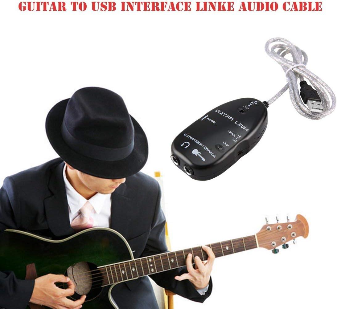 DF-ES Guitarra eléctrica Cable USB Adaptador de Interfaz de Audio ...