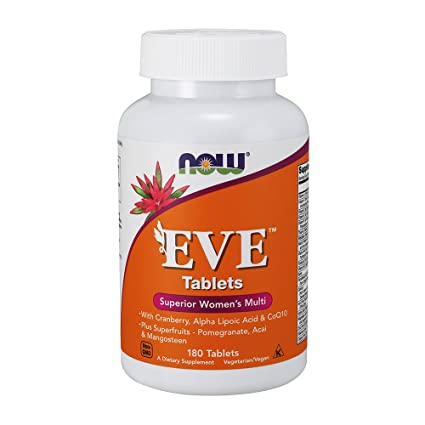 NOW Foods - Múltiples vitaminas de Eva mujer - 180 tabletas